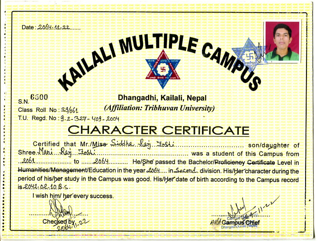 Resume school character certificate sample free professional patanjali yoga teacher siddha raj joshi resume school character certificate sample altavistaventures Gallery